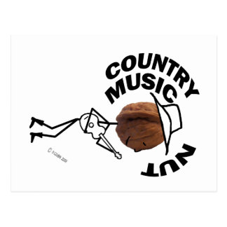 Country Music Nut Post Card