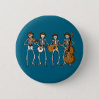 Country Music Playing Skeletons 6 Cm Round Badge