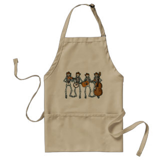 Country Music Playing Skeletons Aprons
