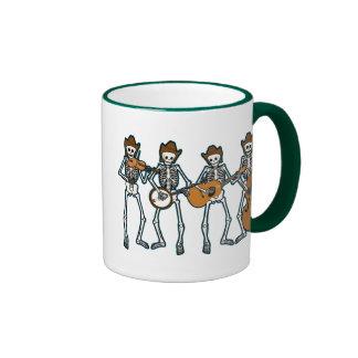 Country Music Playing Skeletons Coffee Mugs