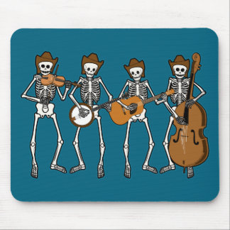 Country Music Playing Skeletons Mouse Mat