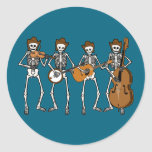 Country Music Playing Skeletons Stickers