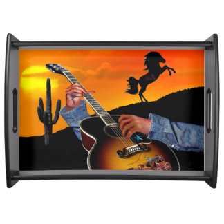 COUNTRY MUSIC SERVING TRAY
