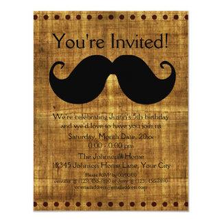 Country Mustache 11 Cm X 14 Cm Invitation Card