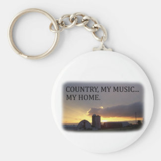 Country My Music My Home Keychain