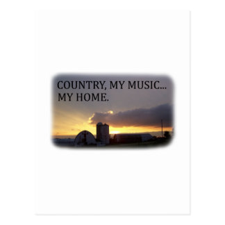 Country My Music My Home Post Cards