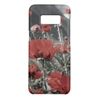 country nature landscape red poppy flower Case-Mate samsung galaxy s8 case