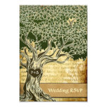 Country Oak Tree Vintage Wedding RSVP Cards 9 Cm X 13 Cm Invitation Card
