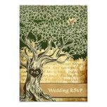 Country Oak Tree Vintage Wedding RSVP Cards 9 Cm X 13 Cm Invitation Card