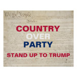 Country Over Party Stand Up to Trump Protest Poster