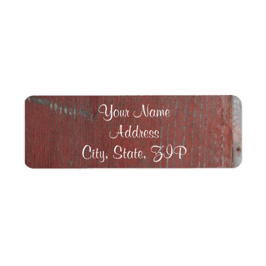 Country Painted Wood with Skeleton Key Anniversary Return Address Label