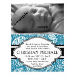 Country Paisley New Baby Boy Birth Announcement