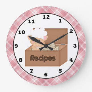Country Pig cartoon kitchen wall clock