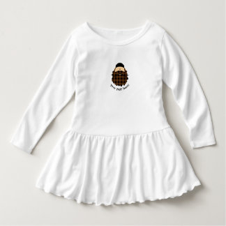 Country Plaid Chocolate Brown Bearded Character Dress
