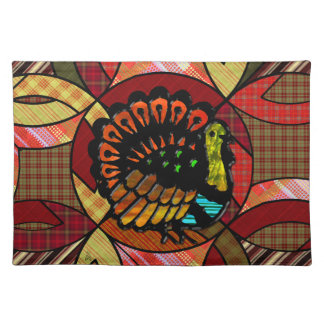 Country Plaid Wedding Ring Quilt Pattern Turkey Place Mats