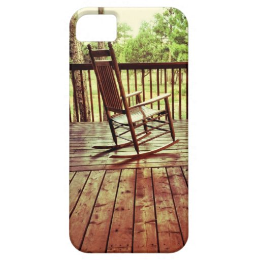 Country porch rocking chair iphone 5 case zazzle