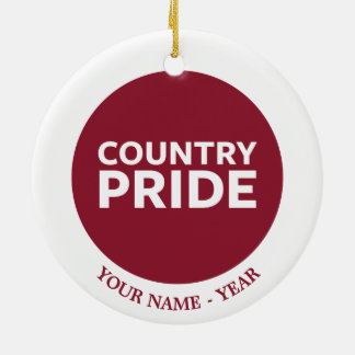 Country Pride Christmas Ornament