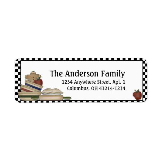 Country Prim Kitchen Return Address Labels