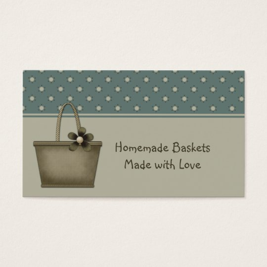 Country Primitive Baskets Business Card