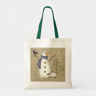 Country Primitive Snowman Bag