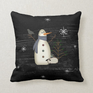 Country Primitive Snowman Pillow