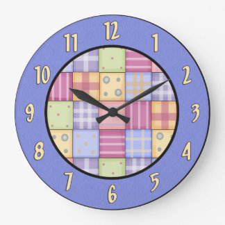Country Quilt Wall Clock
