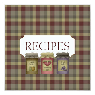 Country Recipe Trading Card Collection Personalized Invites