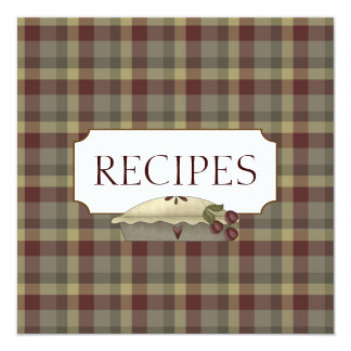 Country Recipe Trading Card Collection Personalized Invitation