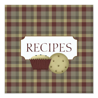 Country Recipe Trading Card Collection Custom Invitations