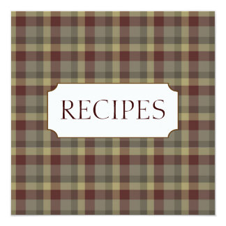 "Country Recipe Trading Card Collection 5.25"" Square Invitation Card"