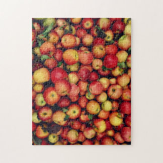 Country Red Apples on the Farm Photograph Jigsaw Puzzle