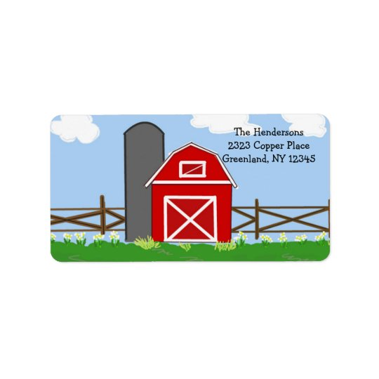 Country Red Barn Label