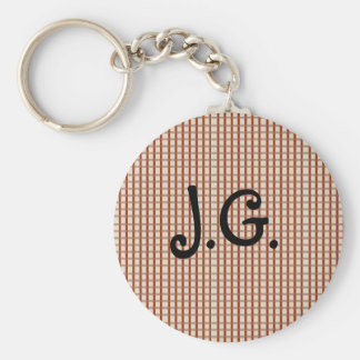 Country Red Gingham Checks Key Chain