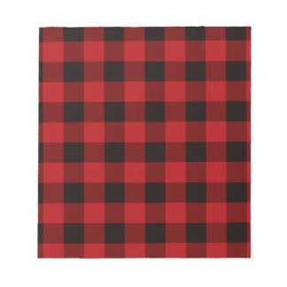Country red plaid notepads