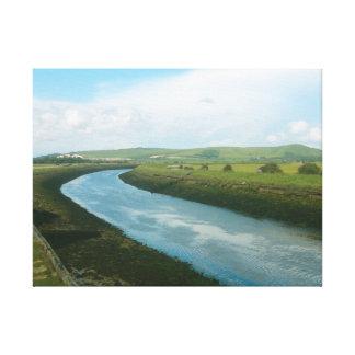 Country River Landscape Canvas Print