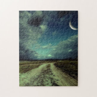 Country road leading to the church jigsaw puzzle