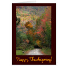 Country Road Thanksgiving Card