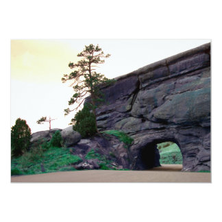 country road tunnel 13 cm x 18 cm invitation card