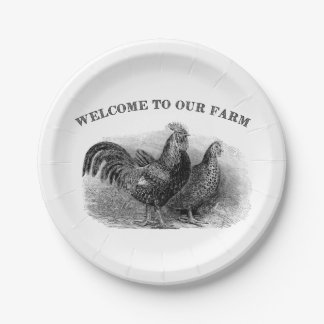 Country Rooster and chicken any purpose plate