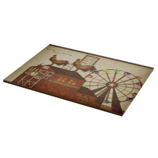 Country Rooster Cutting Board