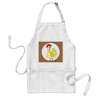 Country Rooster faux Kraft paper kitchen apron