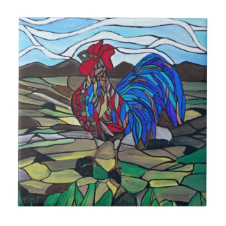 Country rooster tile