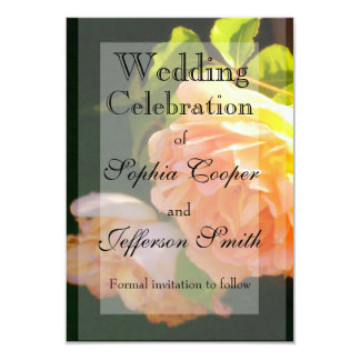 Country Rose Wedding collection 9 Cm X 13 Cm Invitation Card