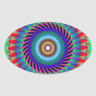 Country Rug Design Oval Stickers