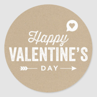 COUNTRY RUSTIC HAPPY VALENTINE'S DAY STICKER
