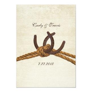 Country Rustic Horseshoes Wedding 13 Cm X 18 Cm Invitation Card