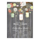 Country Rustic Mason Jar Bridal Shower Invites