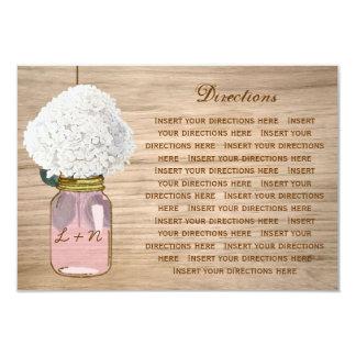 Country Rustic Mason Jar Hydrangea Directions 9 Cm X 13 Cm Invitation Card