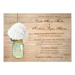 Country Rustic Mason Jar Hydrangea Wedding 13 Cm X 18 Cm Invitation Card