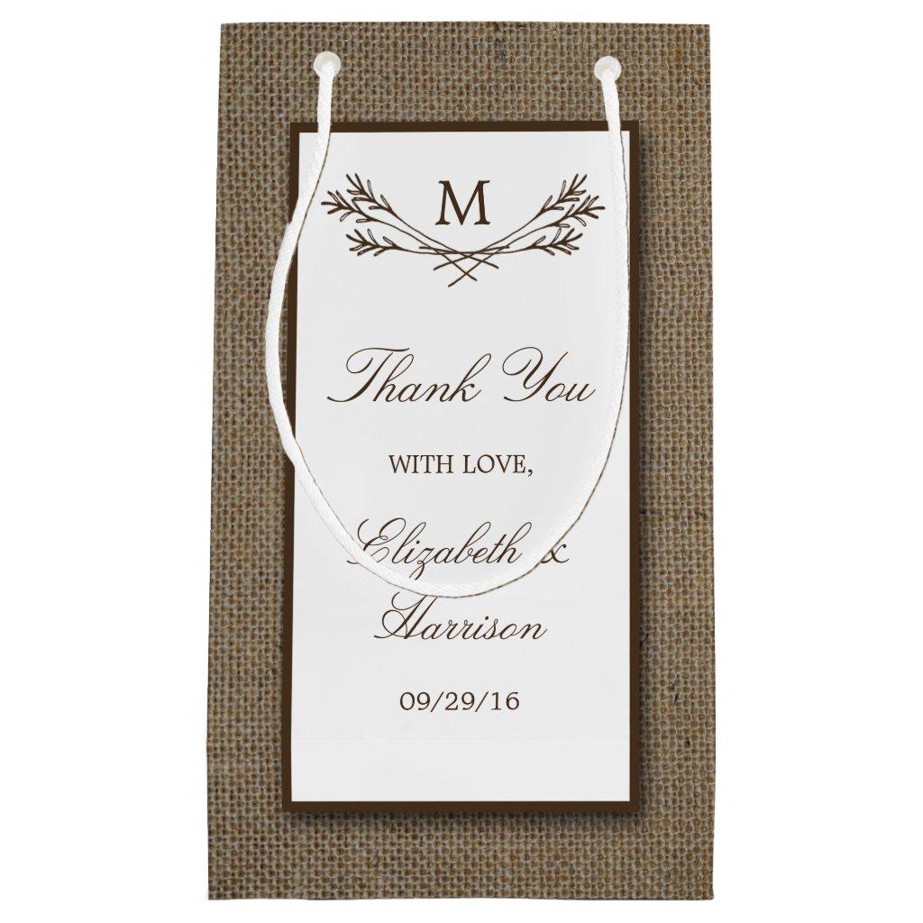 Country Rustic Monogram Branch & Burlap Wedding